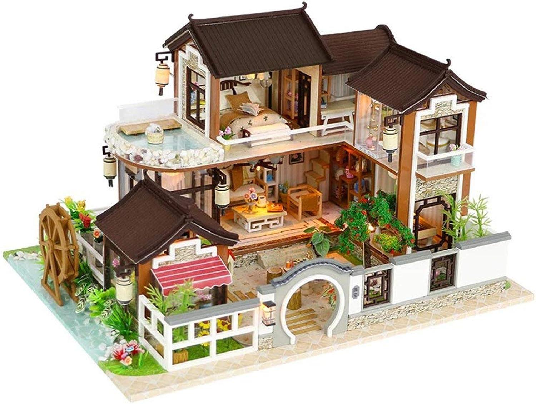 las mejores marcas venden barato GEPFD-DIY Casa de muñecas en Miniatura Juego Juego Juego de casa en para Bricolaje,Creative Room Model Jugar Juguete,Tiny Dream Garden Tree House Obra de Arte Decorada con LED, cumpleaños  hasta un 50% de descuento