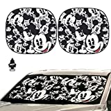 Yupbizauto Auto Car Windshield Sunshade with Disney Mickey Expressions Design 2 Piece