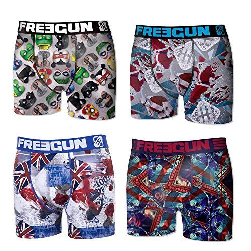Freegun Boxershorts für Babys, 2 bis 6 Jahre, 4 Stück Gr. 4-5 Jahre, Funny Pack