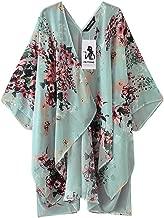 Fashion Chiffon Shawl Print Kimono Cardigan Top Cover Up Blouse BeachwearWomen