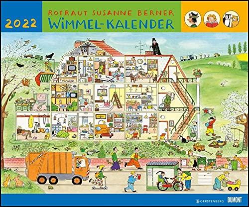 Wimmel-Kalender 2022 – DUMONT Kinderkalender – Wandkalender 58,4 x 48,5 cm – Spiralbindung