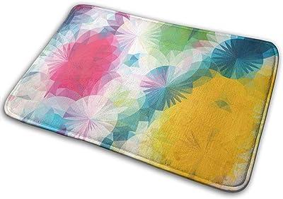"""Colorful Floral Doormat Front Door Mat Non Slip Door Rug Shoes Scraper Rug Carpet - 23.6"""" x 15.8"""""""