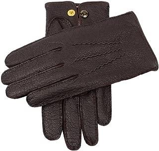 Barkトラファルガーカシミア裏地Peccaryレザー手袋をDents US サイズ: Large/Extra Large カラー: ブラウン