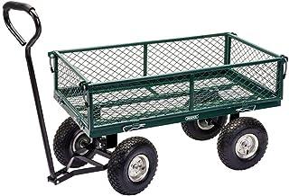 Draper DRA58552 Steel Mesh Gardeners Cart - Green, 15.2 cm*98.0 cm*54.2 cm