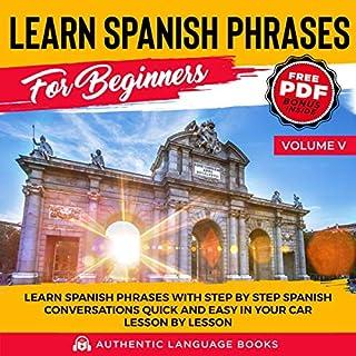 Learn Spanish Phrases for Beginners, Volume V cover art