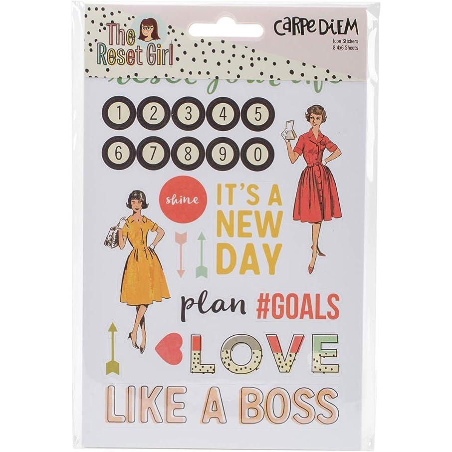 Carpe Diem The Reset Girl Icon Stickers