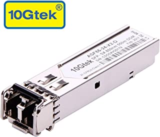 10Gtek Gigabit SFP LC Multi-Mode Transceiver, 1000BASE-SX Mini-GBIC Module for Cisco GLC-SX-MMD/GLC-SX-MM/SFP-GE-S, Meraki MA-SFP-1GB-SX, Ubiquiti UF-MM-1G, Mikrotik S-85DLC05D, (850nm, DDM, 550m)