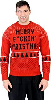 Ugly Christmas Merry Fckin' Christmas Adult Sweater