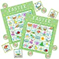 JOYIN 28 Players Easter Bingo Cards (5x5) for Easter Party Goodies Games, Kids School Classroom Goody Gift, Indoor Family Activities, Basket Filler Stuffers