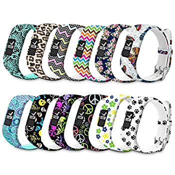 Watch Bands Compatible for Garmin Vivofit 3 Bands/Vivofit Band/JR/Vivofit JR 2 Bands Sport Replacement Wristbands for Girls Women Kids with Metal Secure Clasp Watch Strap for Garmin Vivofit 3 12Pack