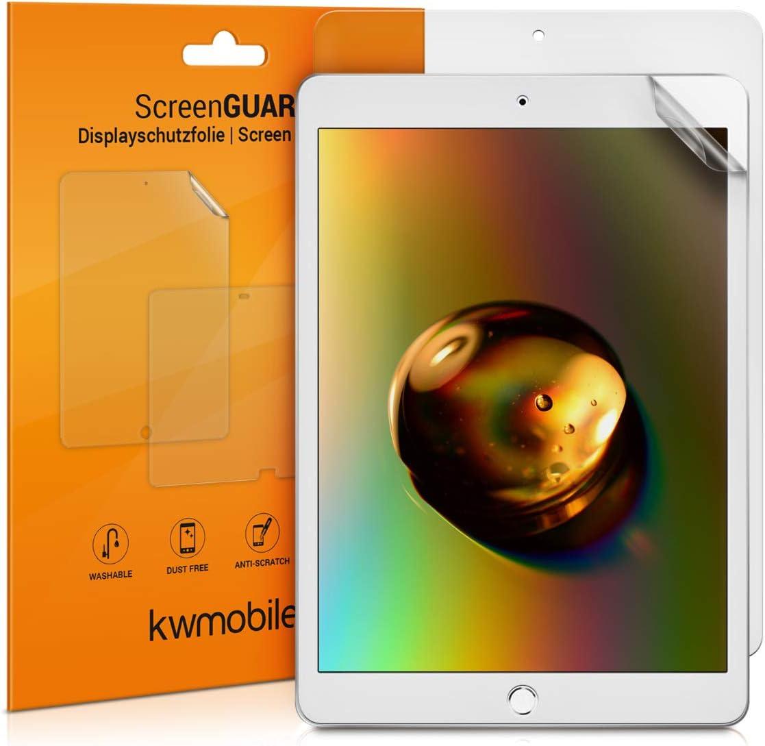 kwmobile 2X Salvapantallas Compatible con Apple iPad 10.2 (2019/2020-7./8. Gen) - Protector de Pantalla Mate para Tablet - Lámina Protectora