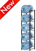 Nandae Water Cooler Jug Rack, 5-Tier Heavy Duty Water Bottle Holder Storage Rack for 5 Gallon Water Dispenser, Save Space