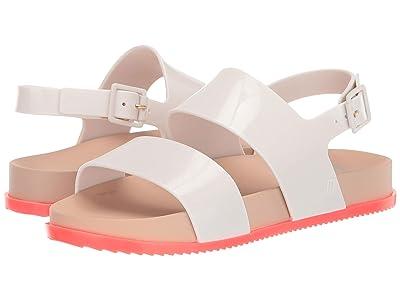 Mini Melissa Mel Cosmic Sandal (Little Kid) (White/Orange) Girls Shoes