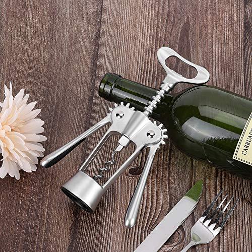 Changor Abre de Vino Multifuncional, Cortador de lámina roja abrelatas de Botella de Vino 18x6cm aleación de Zinc