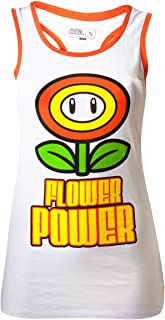 Super Mario Flower Power Top donna bianco