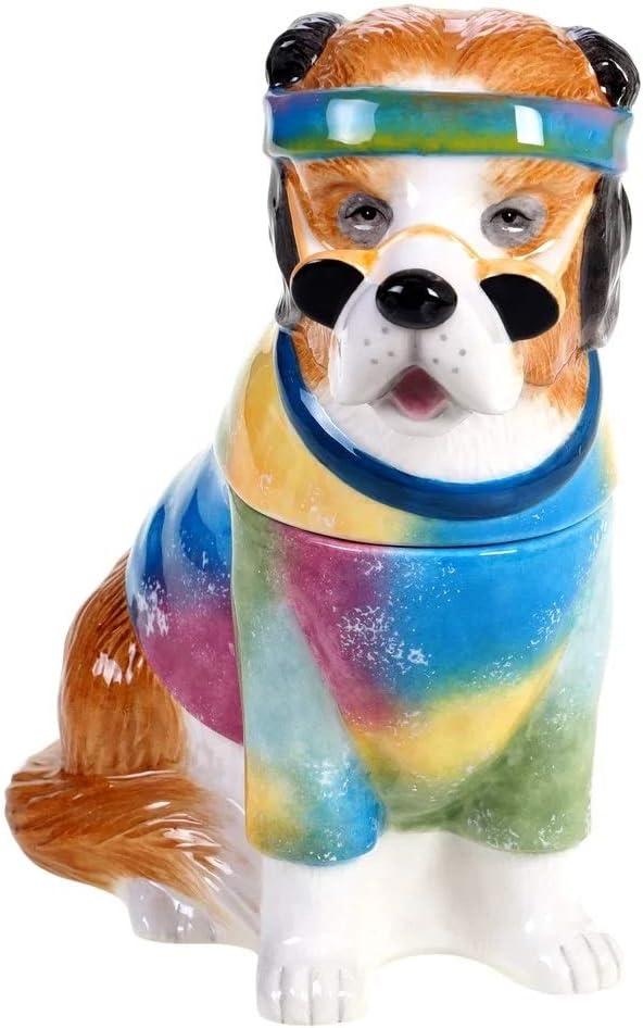 Saint Bernard 28273 Peace Love Treats Dye Cookie Max 41% 2021 new OFF Tie 3D Ceramic