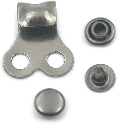 de 4 mm x 20 mm Fujiyuan repuesto para reparar o decorar cordones de zapatos Extremos de metal para los cordones de zapatos 100 unidades