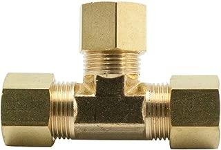 Legines Brass Compression Fitting, Tee Union, 3 Ways Connector, 1/8
