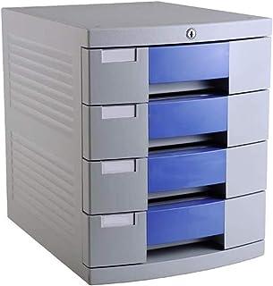 WANGXIAOYUE Armoire de bureau verticale avec 4 tiroirs - Armoire de rangement avec verrou - Armoire de rangement pour fich...
