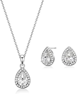 Mestige Necklace and Earrings Set, with Swarovski Crystals - MSSE3347