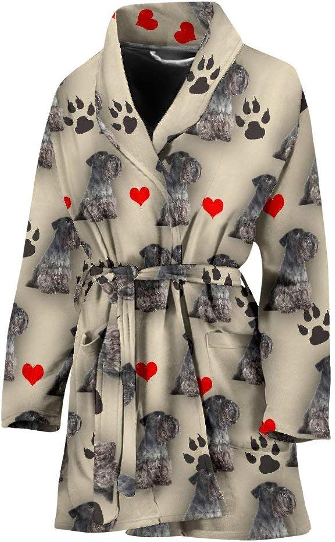 Cesky Terrier Patterns Print Women's Bath Robe