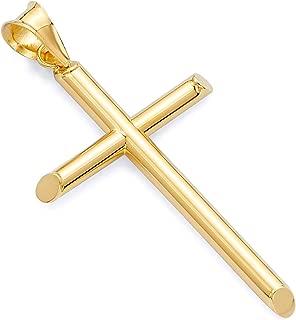 Best small 14k gold cross pendant Reviews