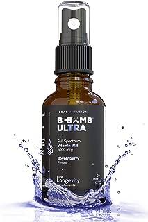 Full Spectrum Vitamin B12 5000 mcg Liquid Spray l Organic Boysenberry l 3 in 1 - Methylcobalamin, Hydroxocobalamin, Adenosylcobalamin l Vegan (60 Servings) Non-GMO