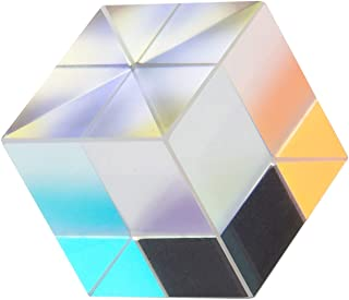 JZENT 20mm Optical Glass Prism RGB Dispersion Prism Physics Light Spectrum Educational Model Outdoor Take Pictures Camera Filter Photo Photography Tool K9-02