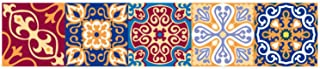 Tile Stickers Bathroom Kitchen Mandala Tiles Decals Removable Backsplash Mexican Traditional Talavera Waterproof Wall Tiles DIY Peel and Stick Tile Stair Mural Decals
