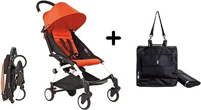 BabyZen YoYo Stroller - White/Red + Babyzen Premium YoYo Travel Bag, Black