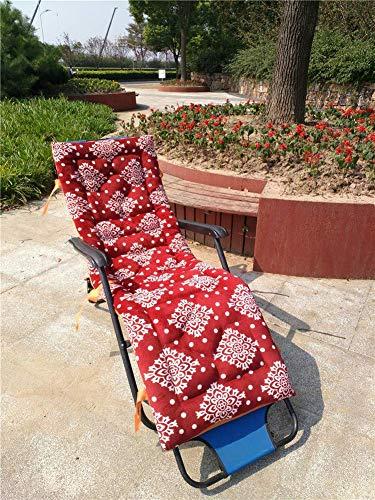 Coussin chaise salon extérieur d'intérieur, coussins chaise patio coussins chaise patio inclinables matelas chaise longue pour le canapé jardin banc voiture Tatami (coussin seulement) -b 52x160cm (20