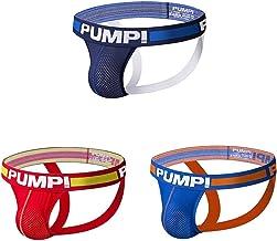 Men Sexy Jockstrap Shorts UMens Jock Straps Underwear Low Rise Mesh Printed Athletic Supporter Sports Thongsnderpants 3 Pieces,XXL