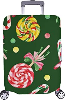 Lollipop Candy Cane Yummy Spandex Trolley Case Travel Luggage Protector Suitcase Cover 28.5 X 20.5 Inch