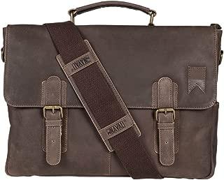 Navigator Laptop Messenger Bag for 15in Laptops - Genuine Saddle Leather