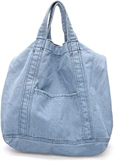 Bageek Denim Shoulder Bag Tote Handbag Simple Crossbody Bag for Women