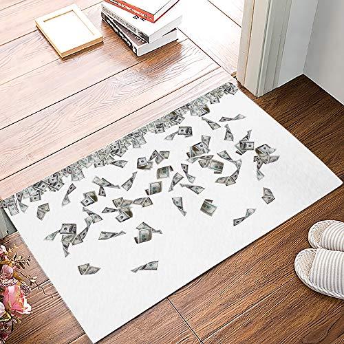 OPLJ Geld Dollar Muster Anti-Rutsch-Fußmatte Schlafzimmer Küchenmatte Bad Teppich Home Fußmatte für den Eingang Anti-Rutsch-Türmatte A2 60x180cm