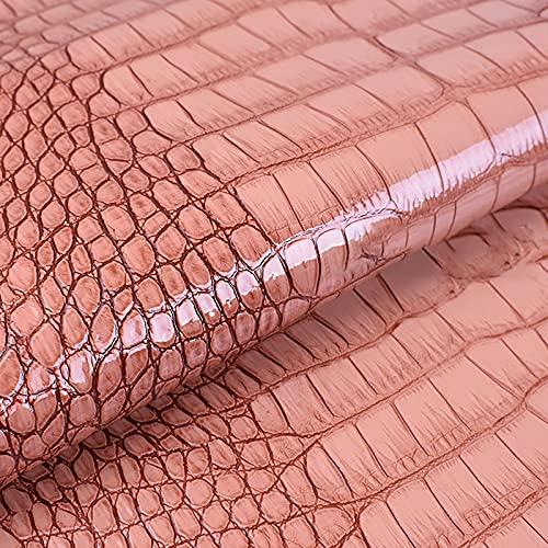 MUYUNXI Polipiel Cuero Artificial De Cuero para Tapizar Sofá Polipiel Silla Manualidades Cojines 138 Cm De Ancho Vendido por Metro(Color:Carne Fresca)