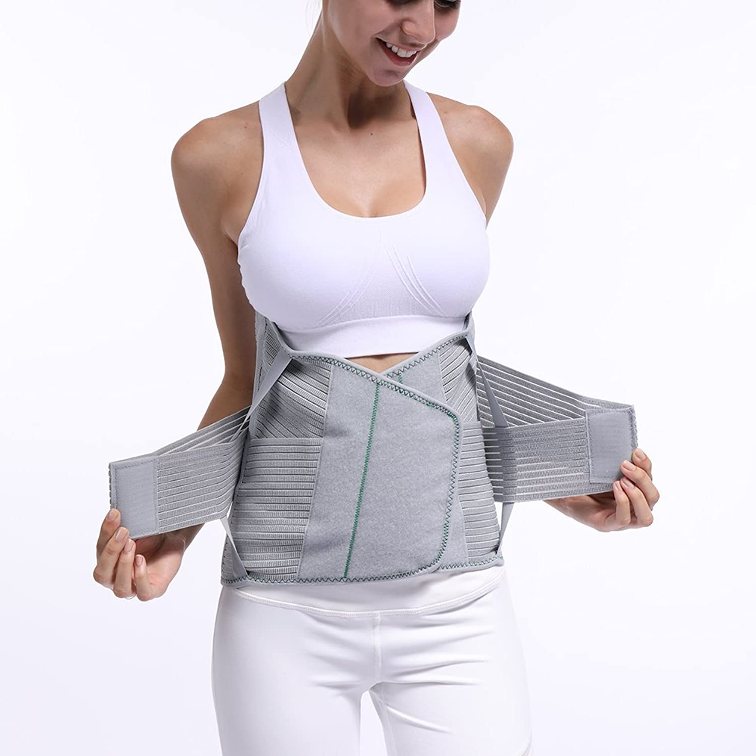 Back Support, Steel Plate Support Strap Sports Training Corset Slimming Belt