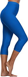 A-Wintage Women's High Waisted Buttery Soft Capri Leggings Reg & Plus Size