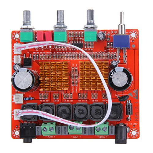 New Jili Online 2.1 Channel PCB Board Digital Amplifier Module Subwoofer AMP Board 100 x 100 x 22mm