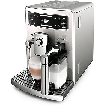 Saeco Xelsis EVO - Cafetera espresso súper automática, con espumador de leche clásico y recipiente de leche, color plata: Amazon.es: Hogar