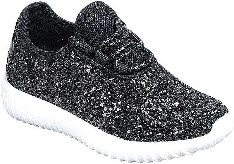 Link Lace Up Rock Glitter Fashion Sneaker For Children Girl Kids
