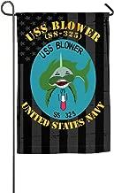 WANGLONG USS Blower SS 325 with Us Flag Garden Flag Home Flag Outdoor Flags