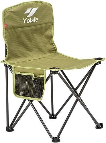JHNEA ExtéRieur Chaise de Camping Fauteuil Pliable, Usage intensif Pliante Fauteuil de PêChe Chaise De Plage Camping Chaise avec Sac de Transport Chaises de Camping,vert_72x42cm