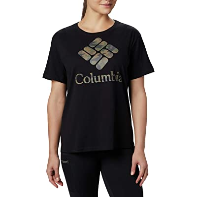 Columbia Parktm Relaxed Tee (Black/Camo) Women
