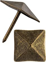 FUXXER® - Sierhoofdnagels, meubelnagels, afdeknagels, sierdoppen, decoratieve nagels, beslag, vintage messing brons antiek...