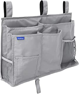 Surblue Caddy Hanging Organizer Bedside Storage Bag for Bunk and Hospital Beds, Dorm Rooms Bed Rails(8 Pockets)