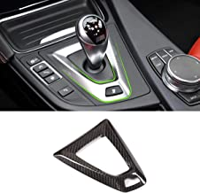 YIWANG 100% Real Carbon Fiber Car Interior Gear Shift Frame Trim for BMW M3 M4 Left Hand Drive Accessories