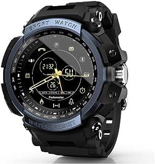 WXG1 Reloj De Los Hombres De Smart Deportes, Reloj Inteligente Impermeable Militar Multifunción con Recordatorio Podómetro Bluetooth Tono, Al Aire Libre Pulsera De Rastreador De Ejercicios,Azul