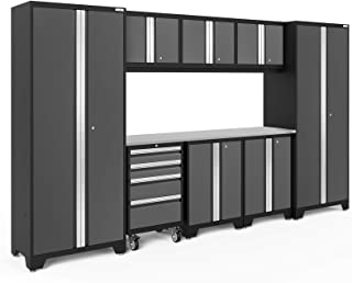 NewAge Products Bold 3.0 Gray 9 Piece Set, Garage Cabinets, 50409
